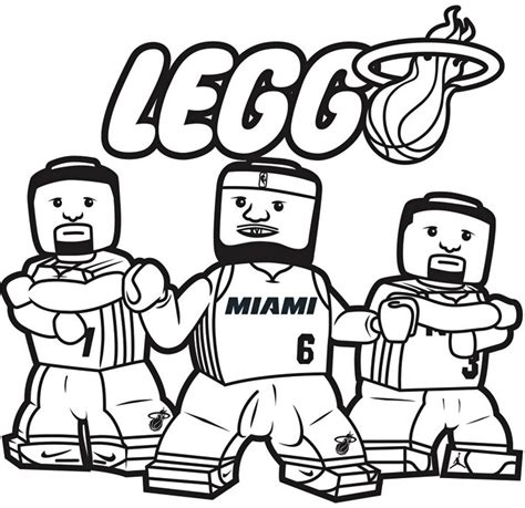 coloring pages for nba lego nba coloring pages