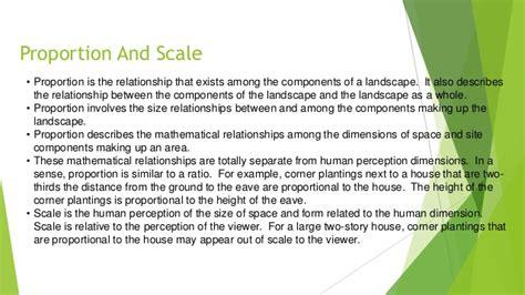 design effect sle size proportion principle of landscape design