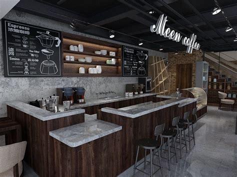 modern style cafe shop design coffee bar counter interior