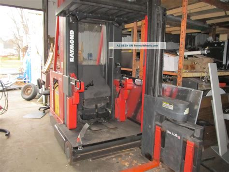 swing lift forklift raymond narrow aisle 537 csr30t swing reach fork lift w