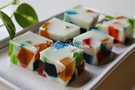 membuat puding dari gelatin sedap dan cantiknya puding broken glass jello azie kitchen