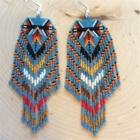 fringe beaded earrings beaded fringe earrings earth to sun