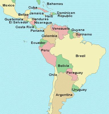 map of latin america latin america is made up of mexico unit 6 latin america world cultures rettig
