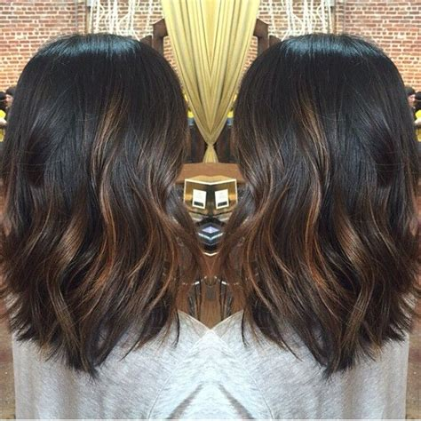 diy highlights for med brown diy balayage on short black hair google search hair