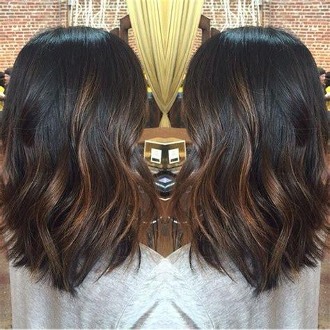 brown hair with highlights diy diy balayage on short black hair google search hair
