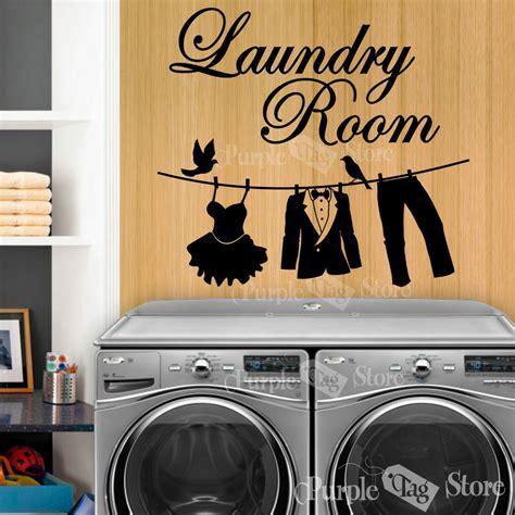 New 2015 Laundry Vinyl Wall Decal Laundry Room Clothesline Wall Laundry