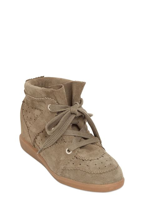 Hk Wedges Suede 2 marant etoile 80mm bobby suede wedge sneakers in