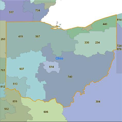 ohio us area code ohio area code map my