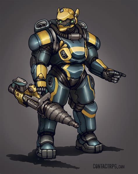 contact armor contact aqua power armor by shimmering sword on deviantart