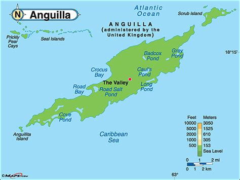 anguilla world map anguilla physical map by maps from maps world s