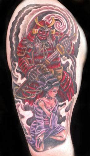tattoo geisha and samurai samurai and geisha tattoo by mathew hays tattoonow