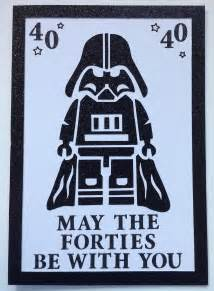 wars 40th birthday card pinteres