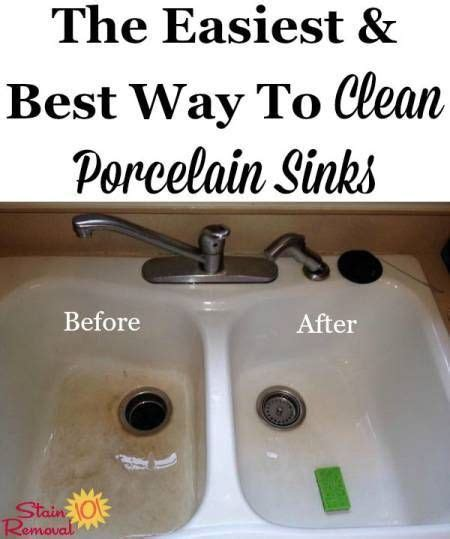 best way to clean porcelain sink best 25 cleaning porcelain sink ideas on