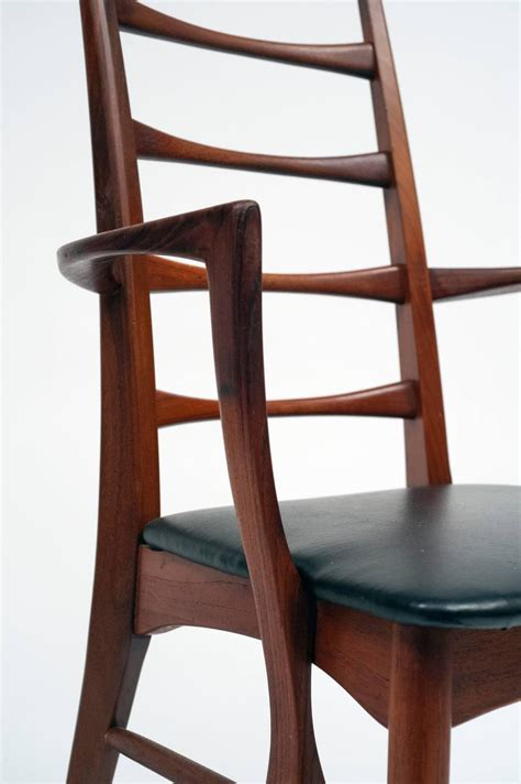 Dining Room Set With Ladder Back Chairs Set Of Eight Ladder Back Dining Chairs By Niels