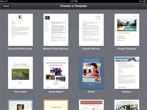 templates for pages free ipad pages templates 171 ipad appstorm