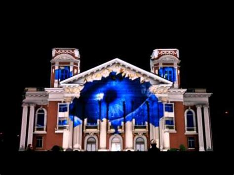3d santa christmas light projection show lg electronics 3d projection mapping youtube
