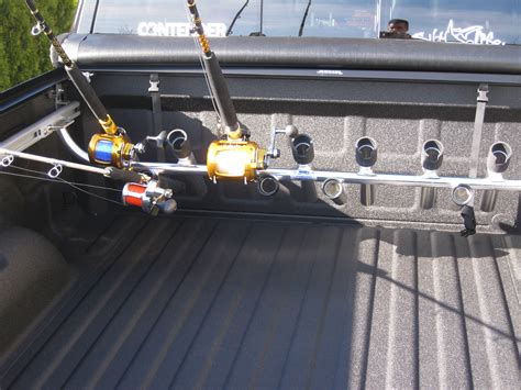 fishing pole holder for truck bed truckbed rodholders the hull truth boating and fishing