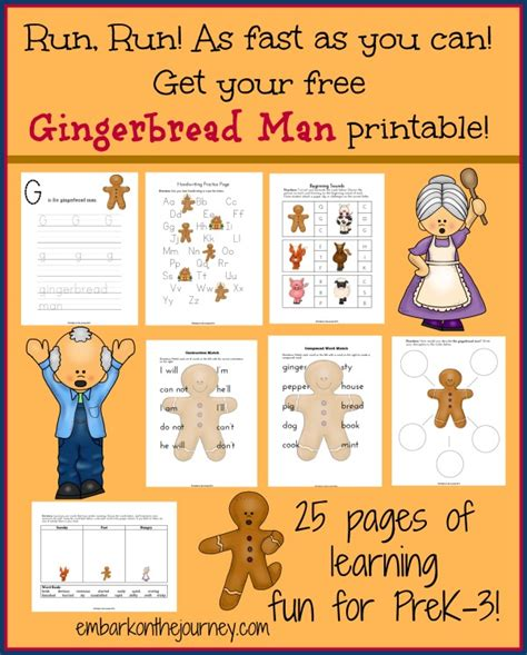 preschool gingerbread man printable book gingerbread man story printables crafts and ideas