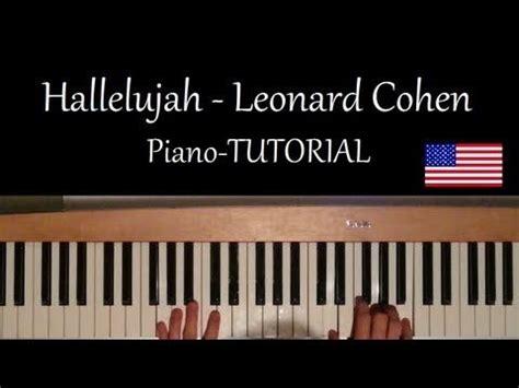 keyboard tutorial hallelujah leonard cohen plays and watches on pinterest