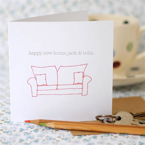 cards at home happy new home card option to personalise the green gables