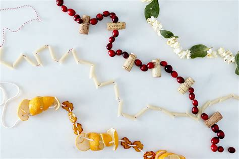 christmas string garland the best ways to string garlands 9 you can make from what s in the pantry
