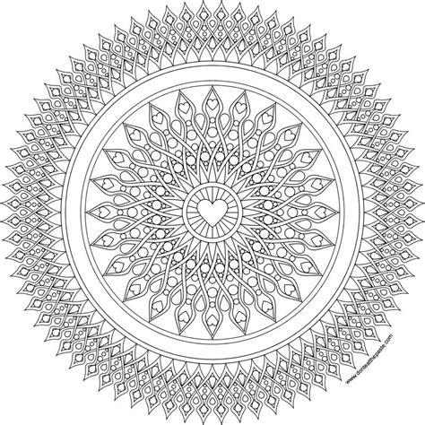 mandala coloring pages hearts don t eat the paste heart sights mandala