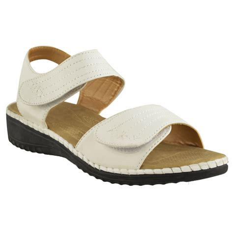 ladies comfort sandals ladies womens comfort wide casual walking flat summer