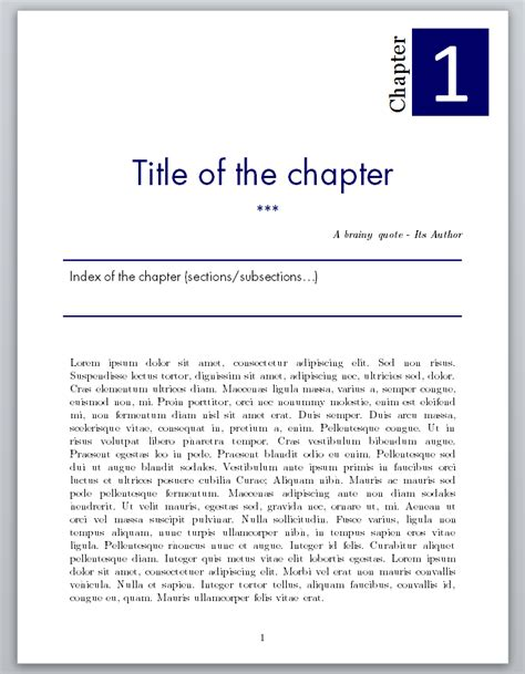 templates for latex books sectioning how to obtain this fancy chapter page with