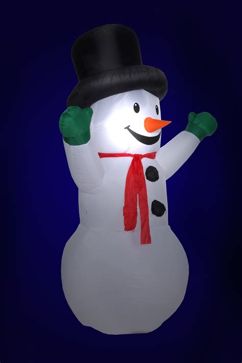 homegear 8 ft christmas inflatable snowman air blown yard