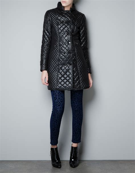 Quilted Jacket Zara by Zara Quilted Jacket In Black Lyst