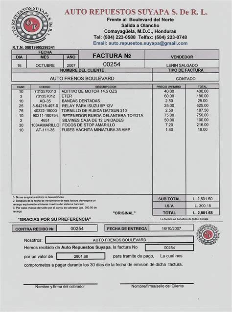modelos de facturas 2015 inform 225 tica 2 ln factura modelo