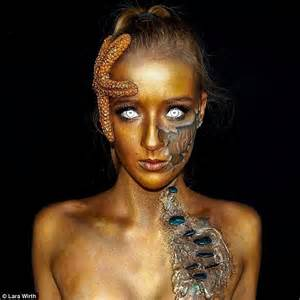 Special Effects Make Up Melbourne Teen Lara Wirth Creates Incredible Special Effects Make Up Daily Mail Online