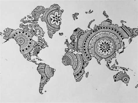 Landkarten Drucken Online by Mandala Zum Ausdrucken Landkarte Welt Artsy Pinterest