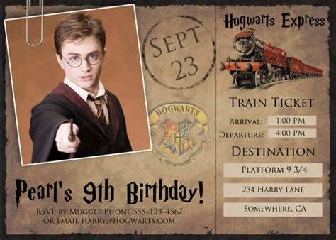 hogwarts harry potter printable postcard invitation
