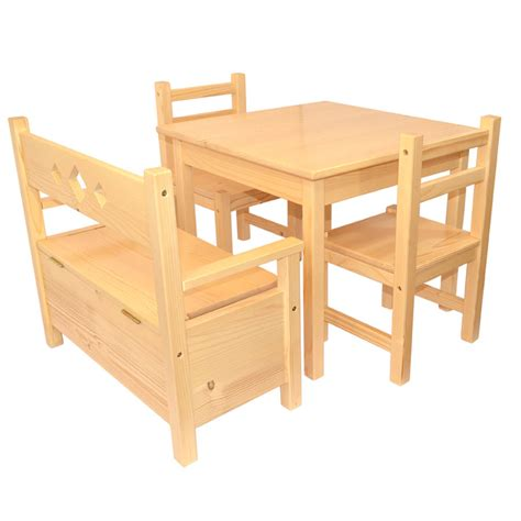 childrens table and bench set childrens furniture solid pine set of 4 one table and two