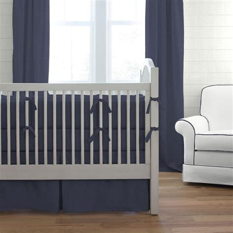 Bumper For Crib With Solid Back by Solid Navy Crib Bumper Carousel Designs
