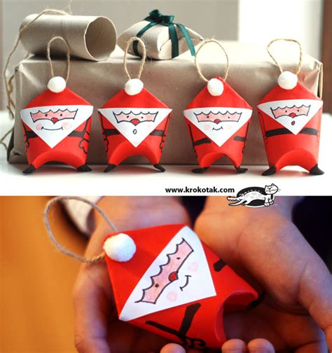 Santa Toilet Paper Roll Craft - creative surprises crafts from toilet paper