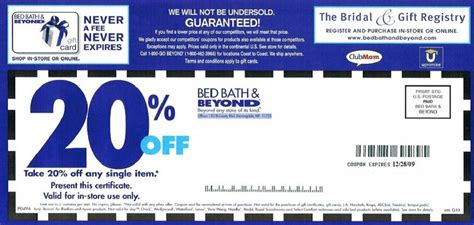 20 Percent Bed Bath And Beyond by Getting Valid Bed Bath And Beyond 20 Coupon Printable