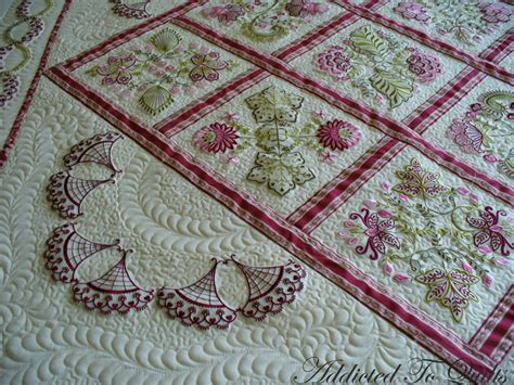 Embroidery Quilt by Addicted To Quilts More Embroidery From Janet Sansom