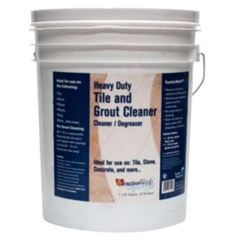 Grout Cleaner Rental Traction Wash 5 Gal Heavy Duty Tile And Grout Cleaner Trwa640 The Home Depot