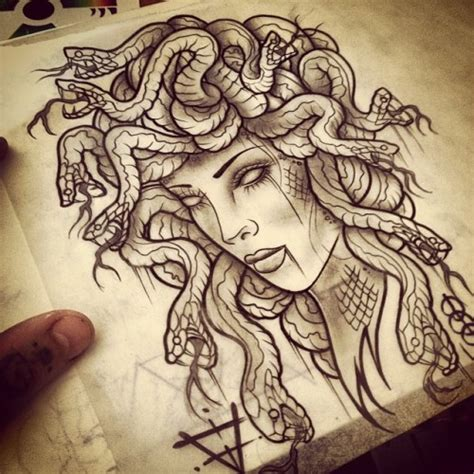 medusa tattoo on