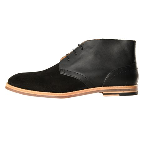 new mens h by hudson houghton boots black suede suede ebay