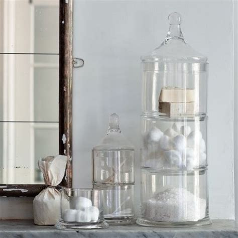 bathroom storage glass containers bathroom ideas