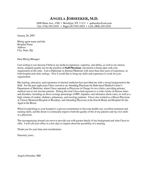 Cover Letter For Physician by Exles Of Coverletters Doctor Cover Letter Exle My Style Cover