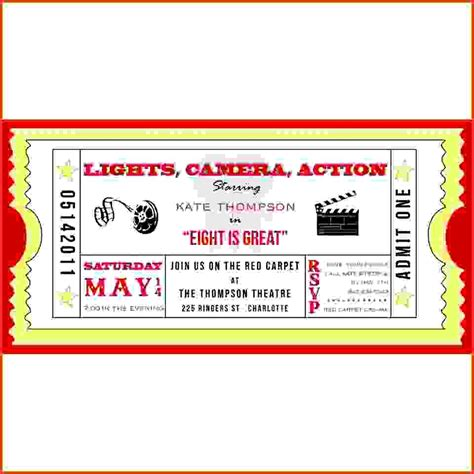 Admit One Ticket Template Exle Mughals Concert Invitation Template Free