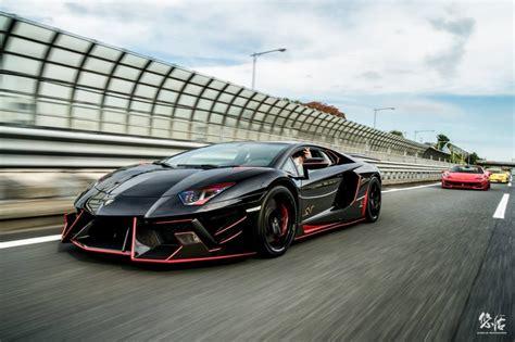 Lamborghini Paint Lamborghini Aventador Sv E By Dmc Black Paint Front