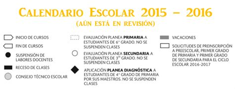 calendario escolar 2015 2016 de la sep calendario escolar 2015 2016 recursos did 225 cticos