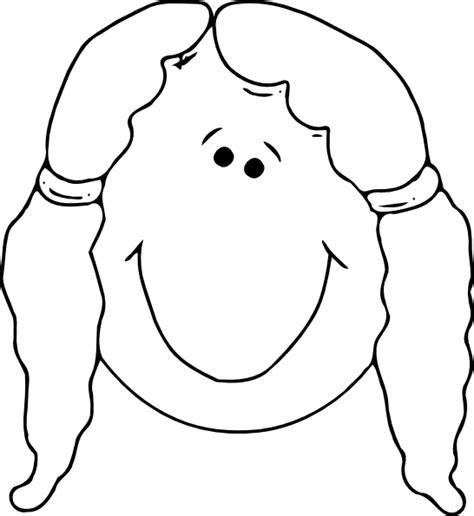 Girl Face Outline Clip Art | smiling girl face outline clip art at clker com vector