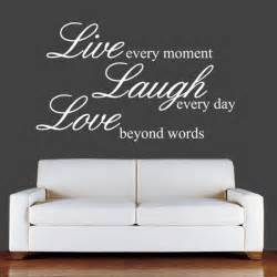 Wall Stickers Love Quotes live laugh love wall quotes quotesgram