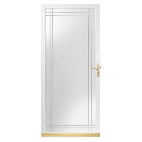Glass Door Home Depot by Andersen 2000 Series White View Etched Glass